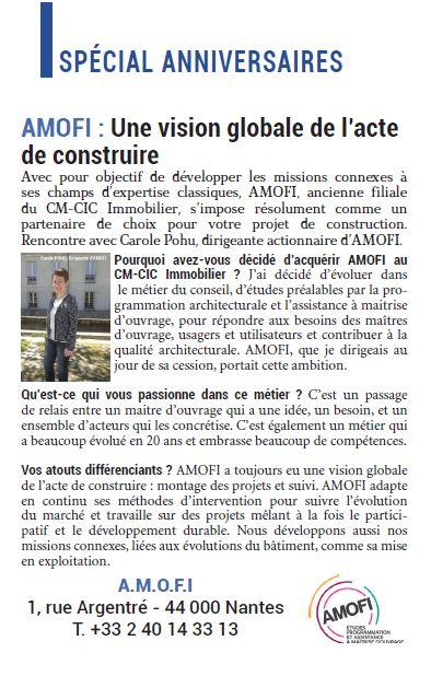 AMOFI : Une vision globale de l'acte de construire